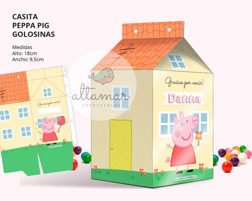 kit imprimible peppa pig editable personalizado candy bar