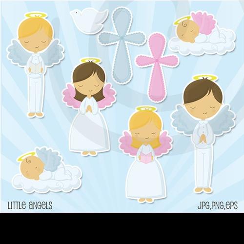 kit imprimible pequeño angelito 10 imagenes clipart