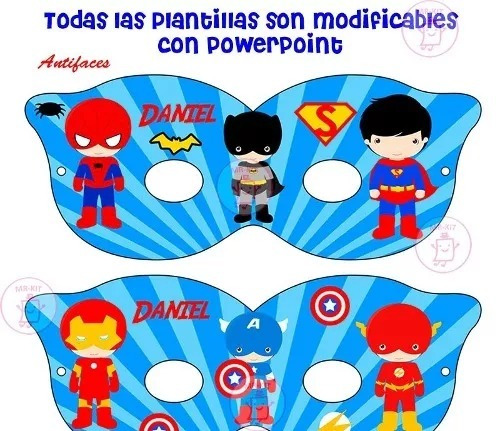kit imprimible pequeños super heroes candy bar tarjetas