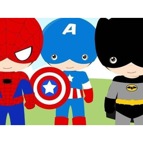 Kit Imprimible Pequeños Super Heroes Diseñá Tarjetas Y Mas