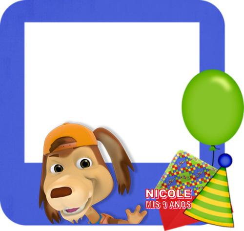 kit imprimible perro chocolo tarjeta invitacion cumpleaños