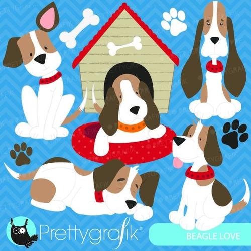 kit imprimible perros beagle clipart imagenes
