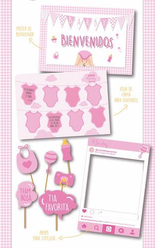 kit imprimible personalizado baby shower nena listo