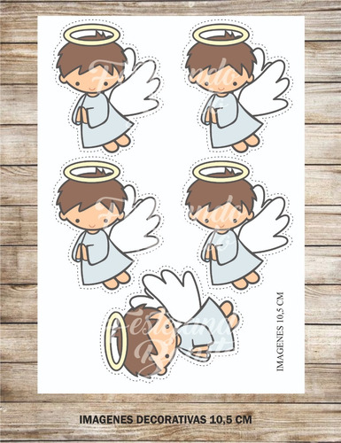 kit imprimible personalizado bautismo angelito
