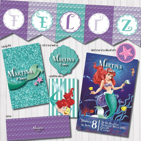 Kit Imprimible Personalizado Candy Bar La Sirenita