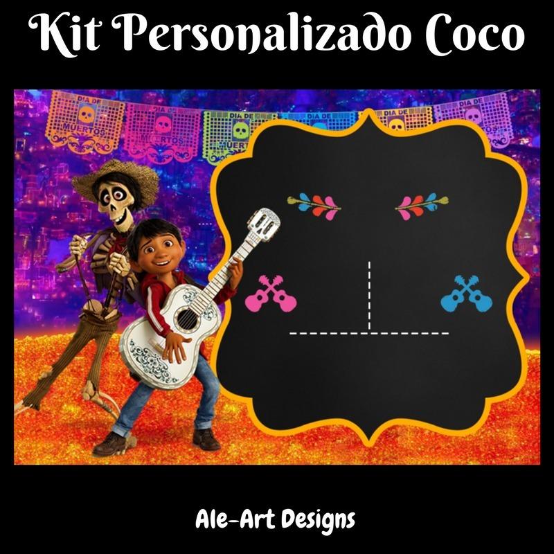 Kit Imprimible Personalizado Coco Disney Listo P Imprimir 250