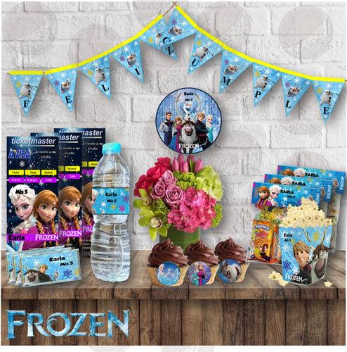 kit imprimible  personalizado frozen