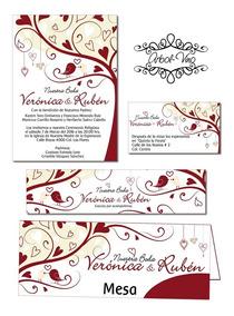 Invitaciones Para Boda Imprimibles Personalizadas Tarjetas