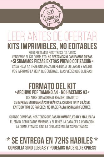 kit imprimible personalizado piñon fijo candy bar deco !