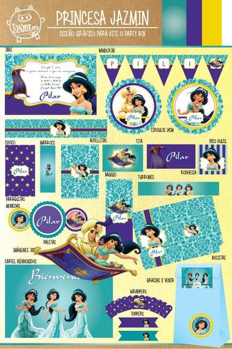 kit imprimible personalizado princesa jazmin !