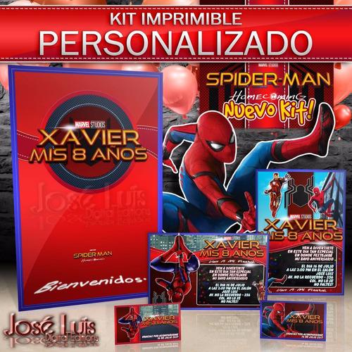 kit imprimible personalizado spider man 300 dpi jose l.
