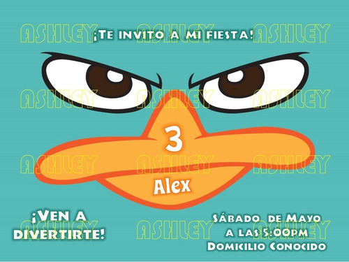 kit imprimible phineas y ferb / perry el ornitorrinco