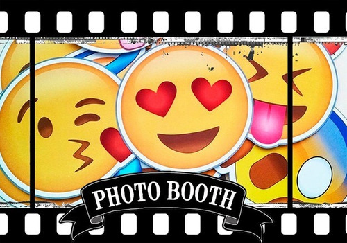 kit imprimible photo booth emojis emoticon - 2x1