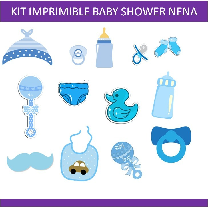 Kit Imprimible Photo Booth Props Baby Shower Nene Cartel - $ 60,00 ...