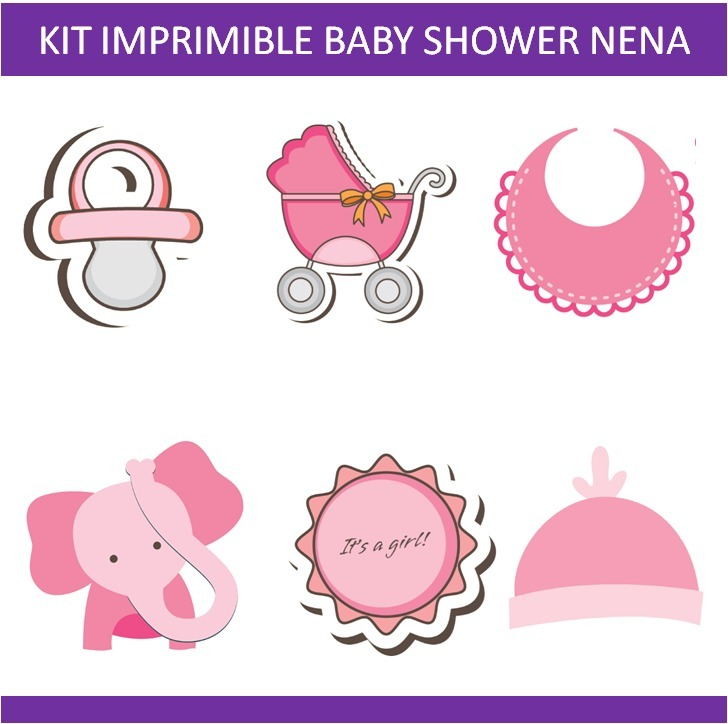 Kit Imprimible Photo Booth Props Baby Shower. Para Fiesta - $ 60,00 ...