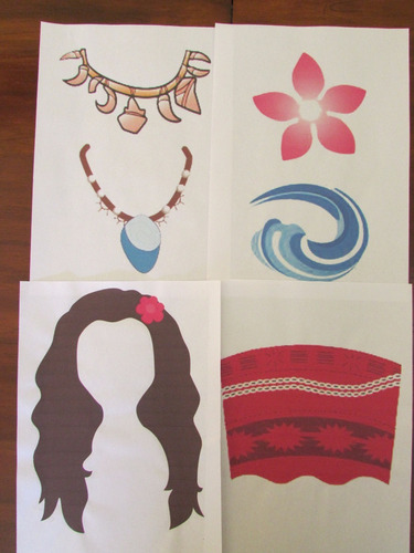 kit imprimible photo booth props moana