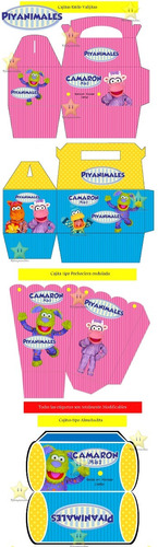 kit imprimible piyanimales candy bar golosinas diseñá y mas