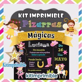 Kit Imprimible Pizarras Magicas Editable Empresarial Full
