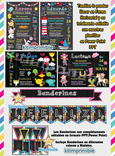kit imprimible pizarras magicas editable empresarial full