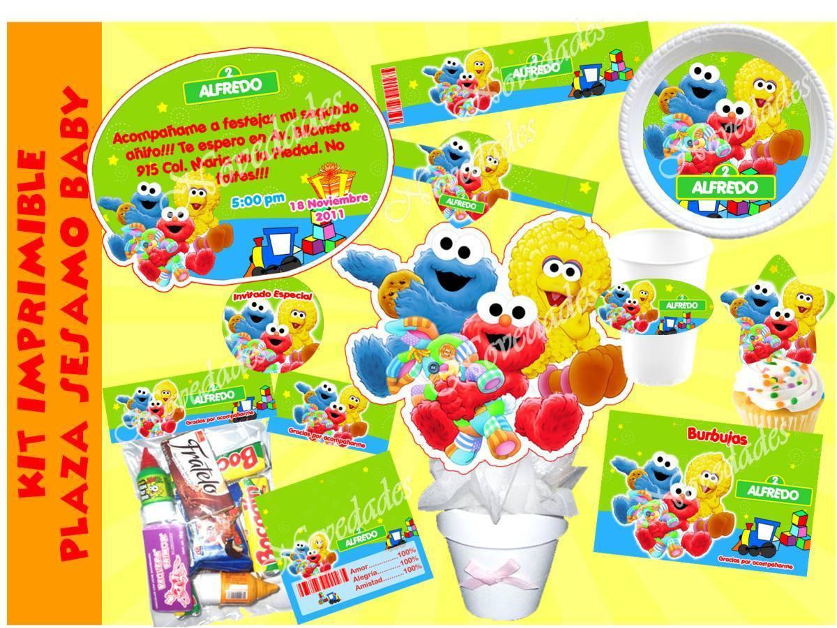 Kit Imprimible Plaza Sesamo Bebe Baby Elmo Bebe Comegalletas ...