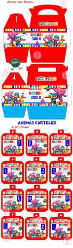 kit imprimible pocoyo candy bar golosinas cumple y mas