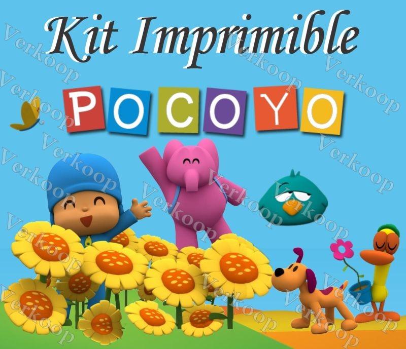Kit Imprimible Pocoyo Invitaciones Tarjetas Frames Fiesta