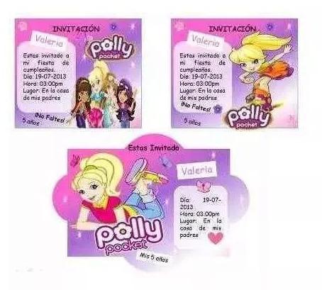 kit imprimible polly pocket, invitaciones nuevo