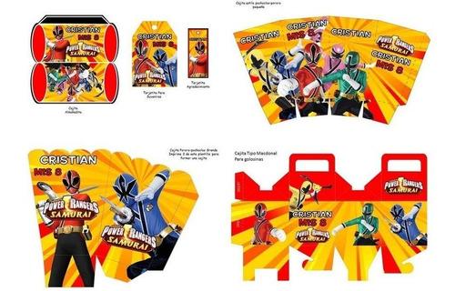 kit imprimible power rangers full fiesta 3x1