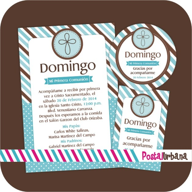 Kit Imprimible Primera Comunión / Invitaciones / Bautizo - $ 220.00 ...