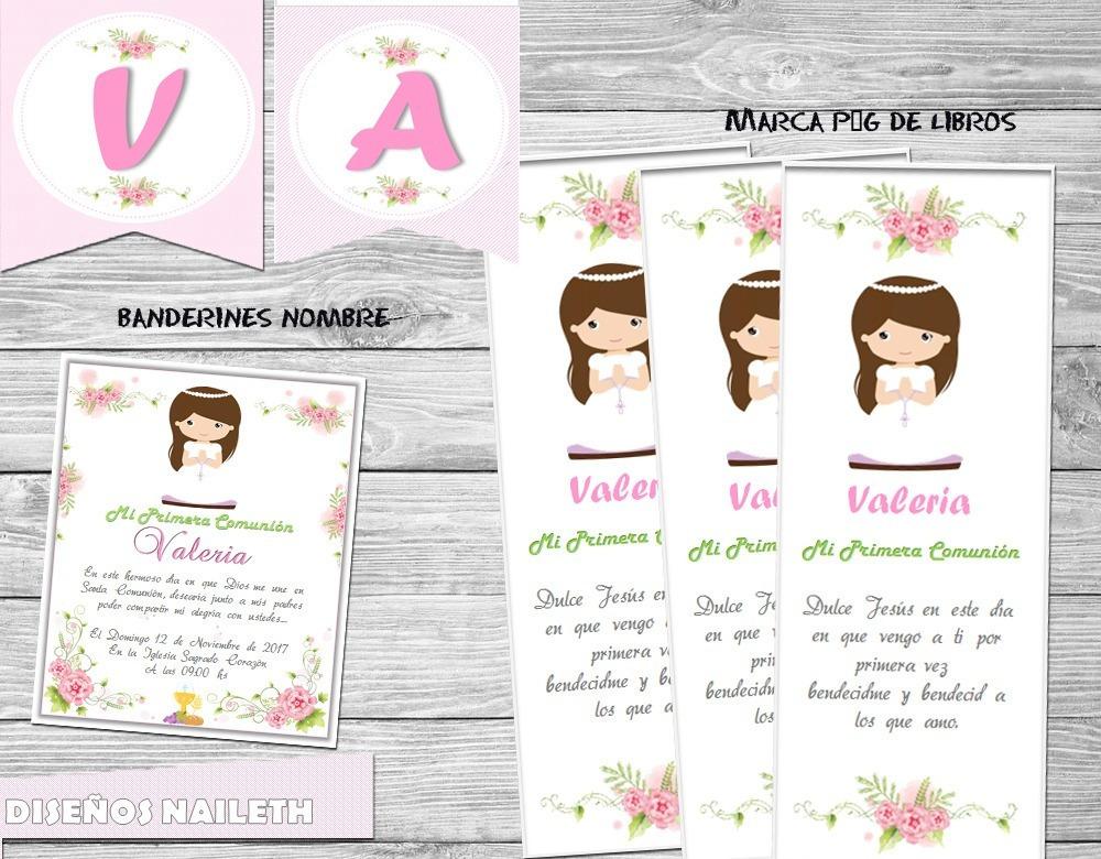 Kit Imprimible Primera Comunión Nena Candy Bar Nuevo - $ 4.000 en ...