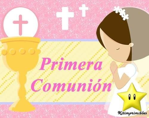 kit imprimible primera comunion nena diseñá tarjetas y ma #2