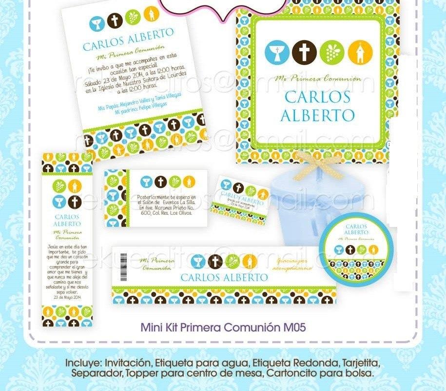 Kit Imprimible Primera Comunión Oferta Barato Unisex - $ 25.00 en ...