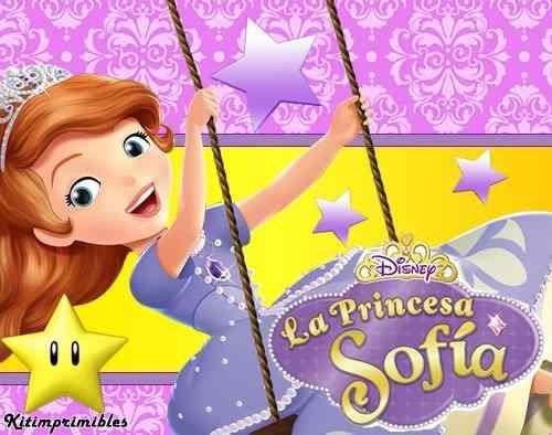 kit imprimible princesa 2 sofia de disney diseñá tarjetas