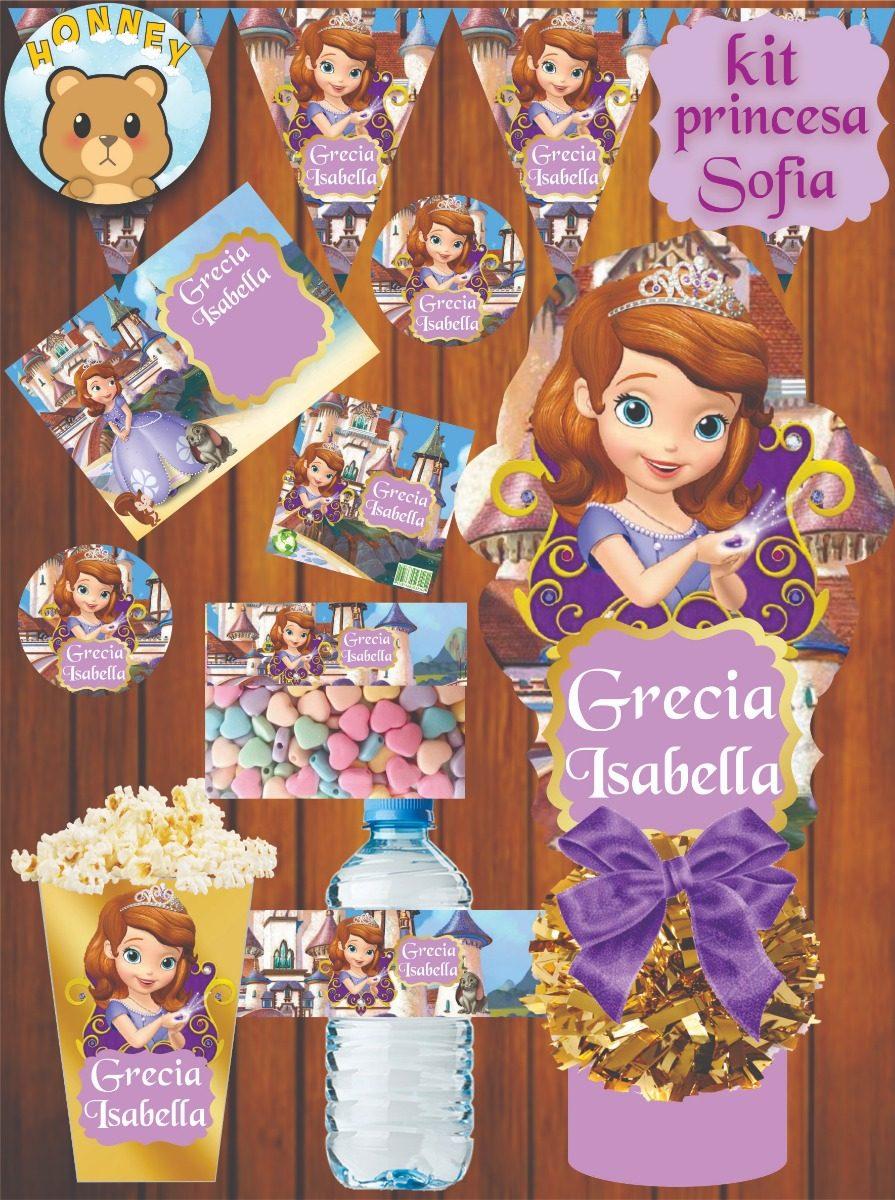 Kit Imprimible Princesa Sofia - $ 150.00 en Mercado Libre