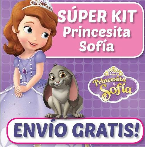 kit imprimible princesa sofia de disney diseñá tarjetas etc