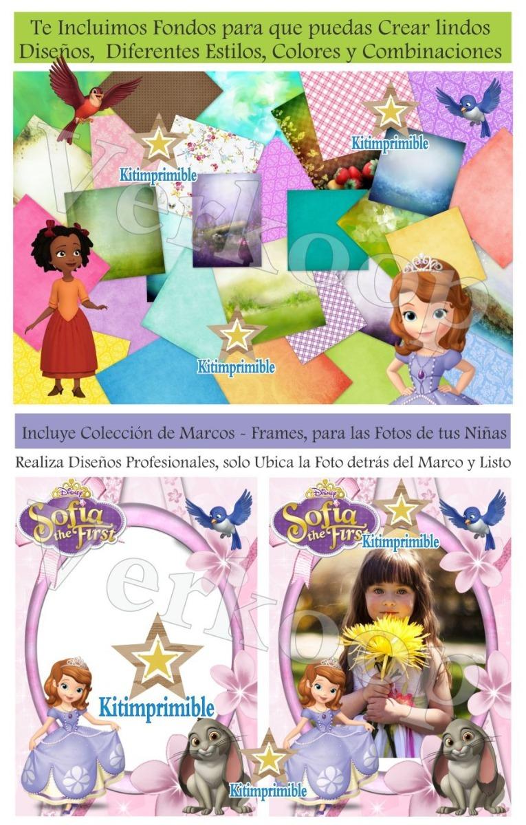 Kit Imprimible Princesa Sofia Primera Candy Bar Editable - $ 220.00 ...