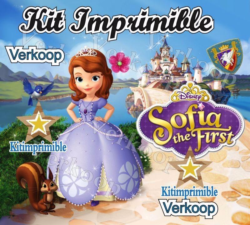 Kit imprimible princesa sofia primera candy bar fiestas - Que se necesita para una fiesta infantil ...