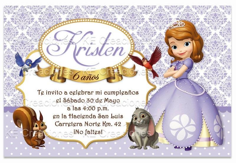 Kit Imprimible Princesa Sofia The First Invitaciones Disney ...