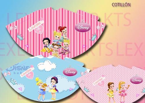 kit imprimible princesas bebes princesas niñas candy bar