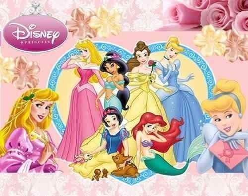 kit imprimible princesas disney - invitaciones cupcakes