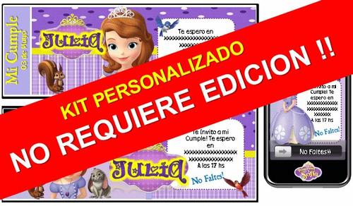 kit imprimible princesita sofía 100% personalizado