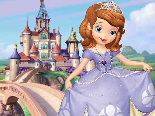 kit imprimible princesita sofia candy bar golosinas y mas