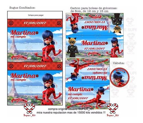 kit imprimible prodigiosa ladybug 2020 + 2x1 tarjeta digital