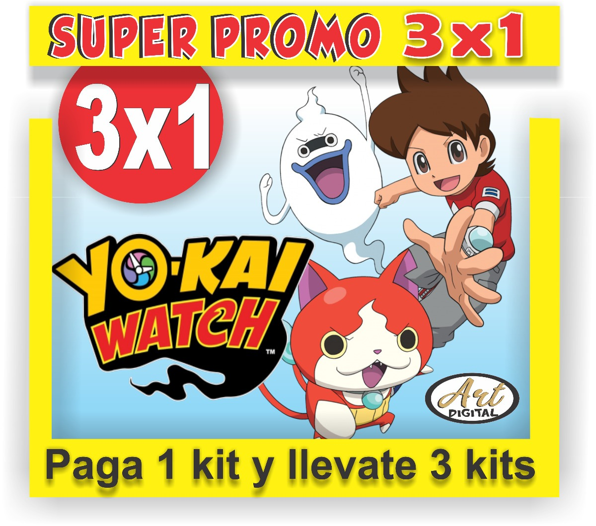 Kit Imprimible Promo 3x1 Yo Kai Watch Invitaciones Cumple - $ 45,00 ...
