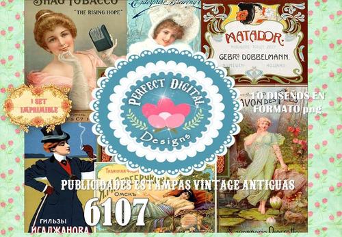 kit imprimible publicidades vintage carteles scrap decoupage