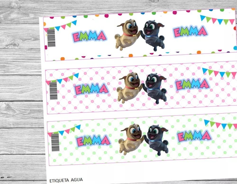 kit imprimible puppy dog pals nena candy bar