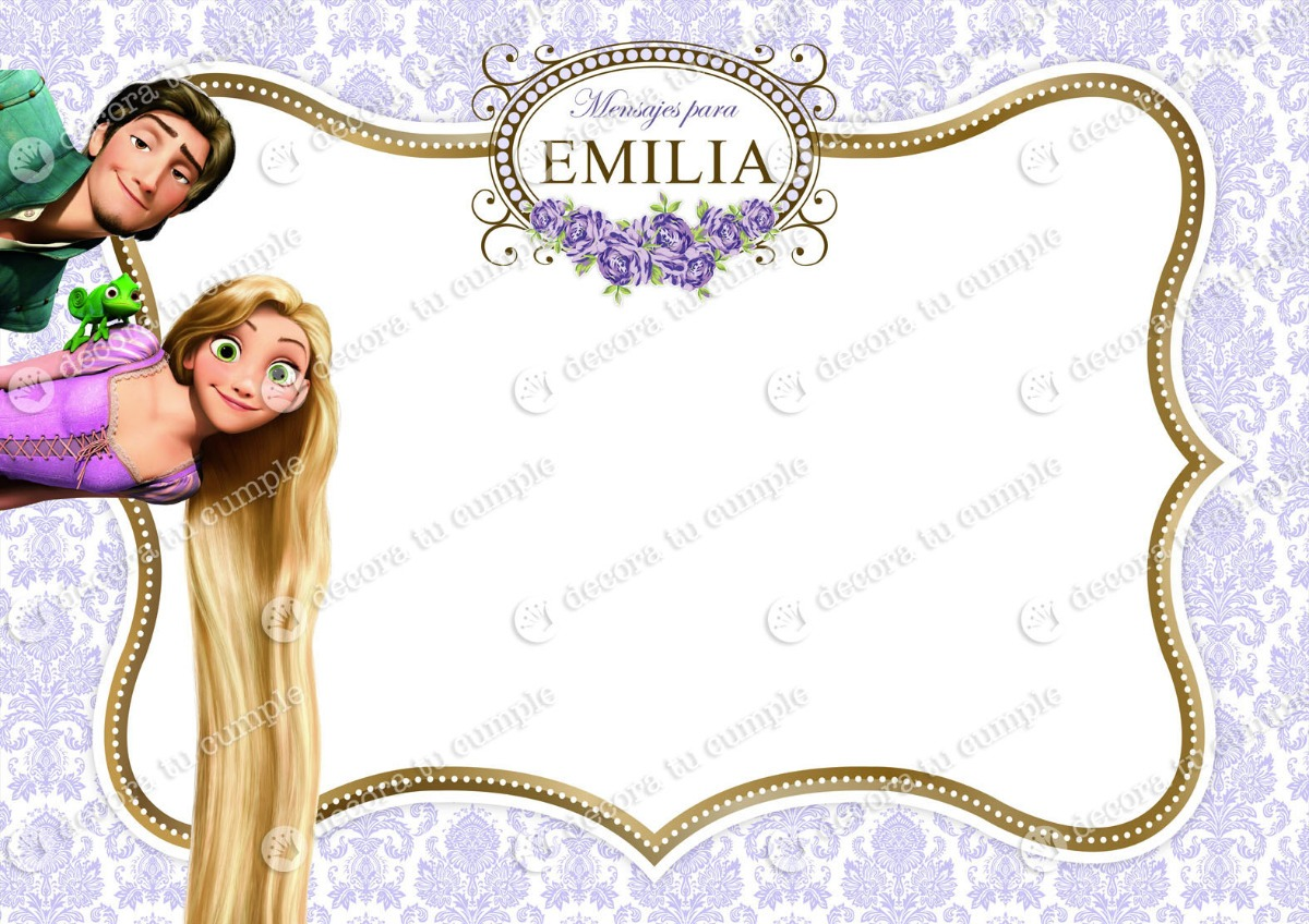 Kit Imprimible Rapunzel Disney Candybar Invitacion Golosinas