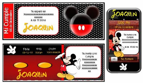 kit imprimible ratón mickey