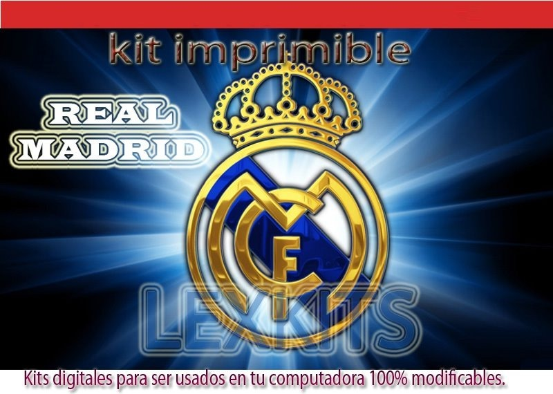 Kit Imprimible Real Madrid