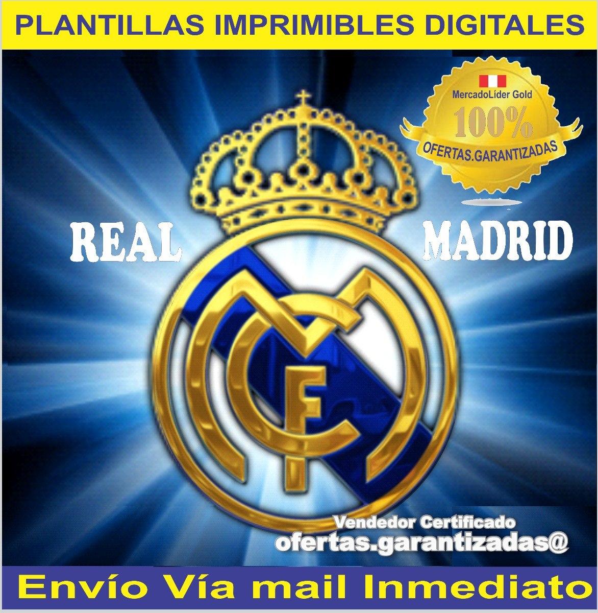 Kit Imprimible Real Madrid Tarjetas Invitaciones Cumpleanos S 18